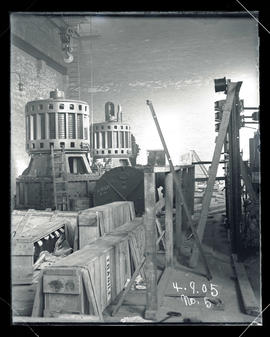 Station E, general interior construction