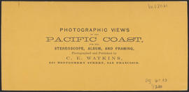 "Verso of, ""The Passage of The Dalles, Columbia River."" (Stereograph 1325)"