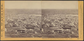 """Panorama of Portland and the Willamette River, Oregon. No. 6.""  (Stereograph 1206)"