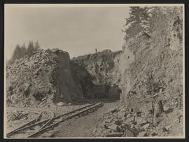 Rock Cut for Railroad Construction