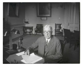 Isaac L. Patterson at desk in governor's office