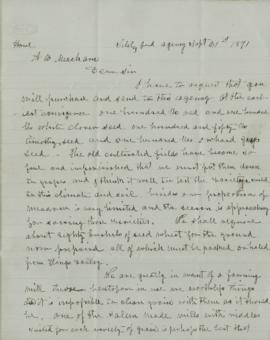 Copy of letter to Alfred B. Meacham
