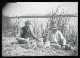 H. T. Bohlman and W. L. Finley with Gulls