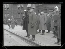 General John J. Pershing saluting at Union Station, Portland