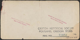 "Verso of, ""Panorama of Oregon City and the Willamette Falls. No.5"" (Stereograph 1218)"