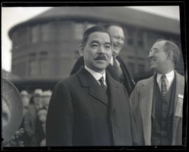 Yōsuke Matsuoka after arrival at Union Station, Portland