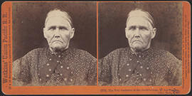 """The Toll Gatherer at the Devil's Gate, Weber Canyon, Utah, U. P. R. R."" (Stereograph 2755)"