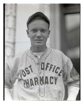 Baseball player for Post Office Pharmacy