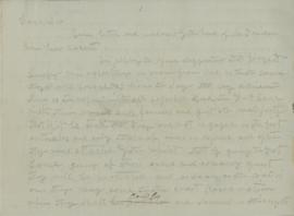 Copy of Letter from Joel Palmer to George H. Ambrose