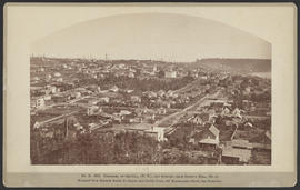 """No. B. 5222. Panorama of Seattle, (W.T.), and Suburbs, from Denny's Hill (no.3)."""