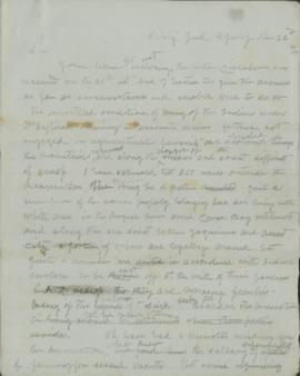 Copy of letter to Thomas Curl?