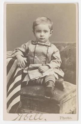 Frank G. Abell portrait of an unidentified young boy