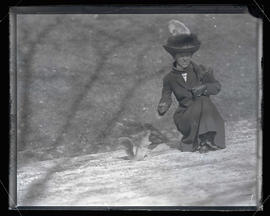 Irene Finley Feeding a Gray Squirrel