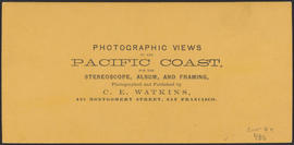 "Verso of, ""Castle Rock, Columbia River."" (Stereograph 1244)"
