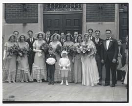 Unidentified wedding party, Portland