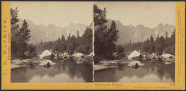 """View on the Merced, Yosemite Valley, Mariposa County, Cal."" (Stereograph 1021)"
