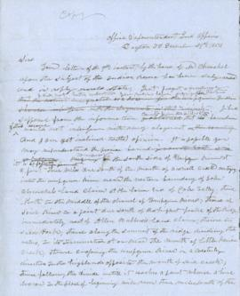 Copy of a letter from Joel Palmer