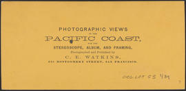 "Verso of, ""Panorama of Oregon City and the Willamette Falls. No.3"" (Stereograph 1216)"