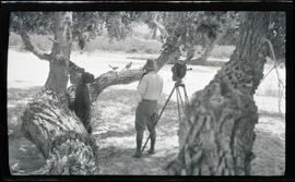 William and Irene Finley photographing road runners