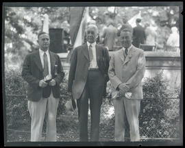 Carl D. Gabrielson, Isaac L. Patterson, and Ben S. Fisher at state American Legion convention, Sa...