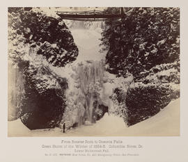 """D.127. From Rooster Rock to Oneonta Falls. Lower Multnomah Falls."""