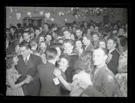 Students and dates at Marylhurst College junior prom, 1945?