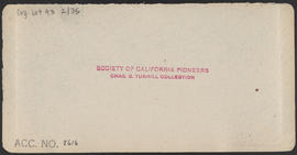 "Verso of, ""Seattle, Puget Sound, W. T.; view from South Ridge."" (Stereograph 5228)"