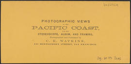 "Verso of, ""Tum Water, Columbia River."" (Stereograph 1327)"