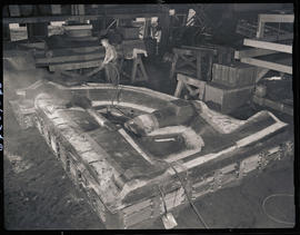 A casting flask at Columbia Steel Casting Company