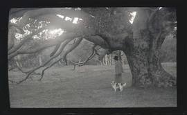 Irene Finley with a dog