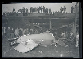Wreckage of Varney Air Lines mail plane in Vancouver, Washington