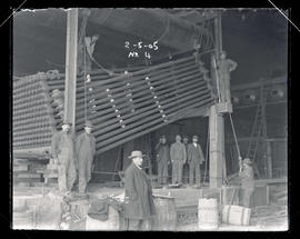 Station E, erection of the boilers
