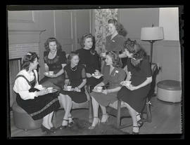 Students at Marylhurst College tea, 1944?