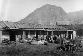Pack train packing up, Glacier Park, Montana, circa 1910