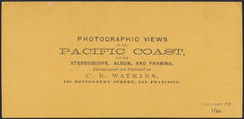 "Verso of, ""Cape Horn, Columbia River."" (Stereograph 1231)"