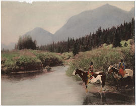 Blackfeet Indians at Glacier National Park