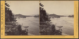 """View on the Columbia River, from the O.R.R., Cascades."" (Stereograph 1283)"