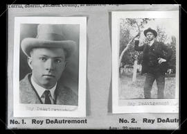 Photographs of Ray DeAutremont and Roy DeAutremont, suspects in train holdup