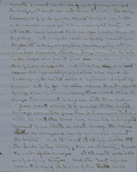 Original draft of letter to department