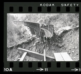Damage from 1964 Christmas Flood, unidentified flume