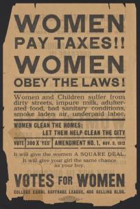 Votes for Women flier