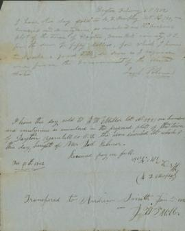 Letters regarding the sale of land