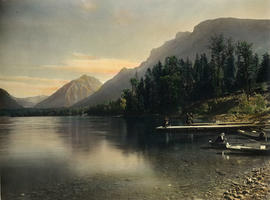 Lake McDonald Lodge dock, Glacier Park, Montana, 1909
