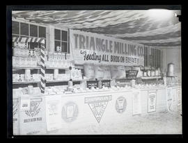 Triangle Milling Company display, probably at Pacific International Livestock Exposition