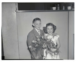 DeAnn McMurry and Johnny Carpenter, 1947 Junior Rose Festival royalty