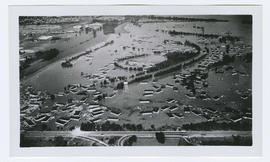 Aerial view of the Vanport flood