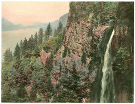 Multnomah Falls from Perdition Trail, hand colored