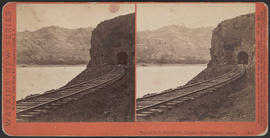 """Tunnel No. 3, West Portal, Columbia River Scenery, Oregon."" (Stereograph E19)"