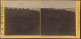 """Mount Hood, from Sun Set Hill, Columbia River."" (Stereograph 1320)"