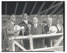 President Franklin D. Roosevelt, James Roosevelt, Governor Julius L. Meier, and Congressman Charl...